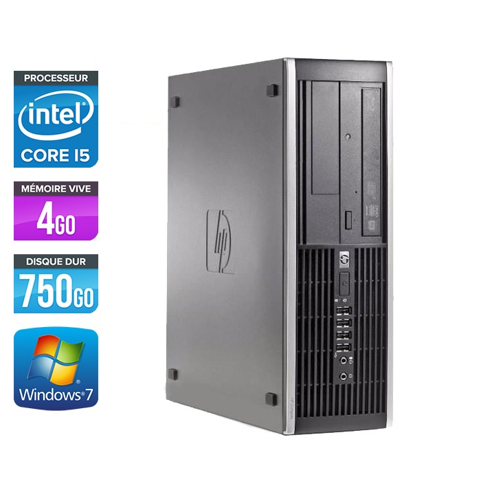 HP Elite 8200 SFF - Core i5 - 4Go - 750Go