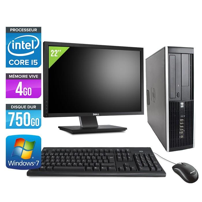 "HP Elite 8200 SFF + Ecran 22"" - Core i5 - 4Go - 750Go"