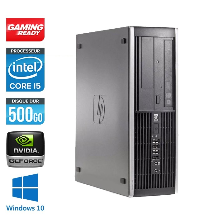 HP Elite 8200 SFF - i5 - 4Go - 500Go - Nvidia GT 1030 - Windows 10