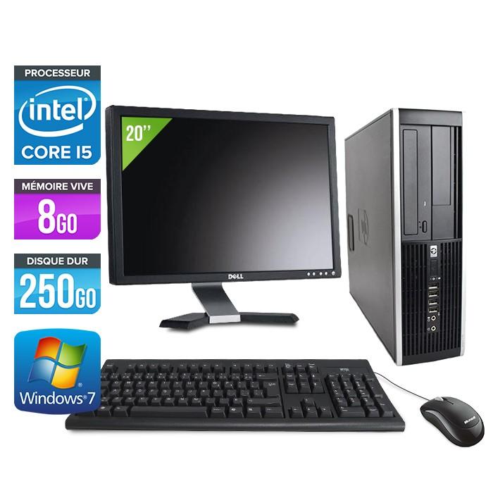 "HP Elite 8200 SFF + Ecran 20"" - Core i5 - 8Go - 250Go"