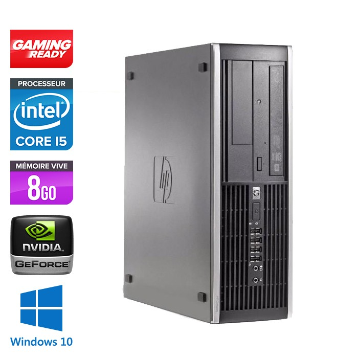 HP Elite 8200 SFF - Core i5 - 8Go - 500Go - Nvidia GT 1030 - Windows 10