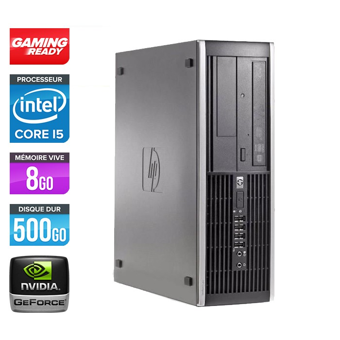 HP Elite 8300 SFF - Core i5 - 8Go - 500Go - Nvidia GT 720