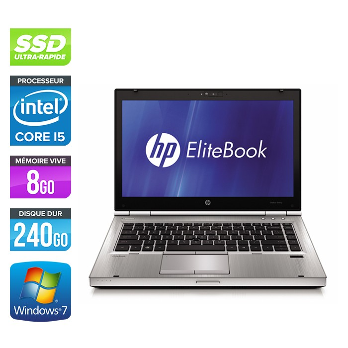 HP EliteBook 8470P - i5 - 8Go - 240Go SSD - windows 7 pro