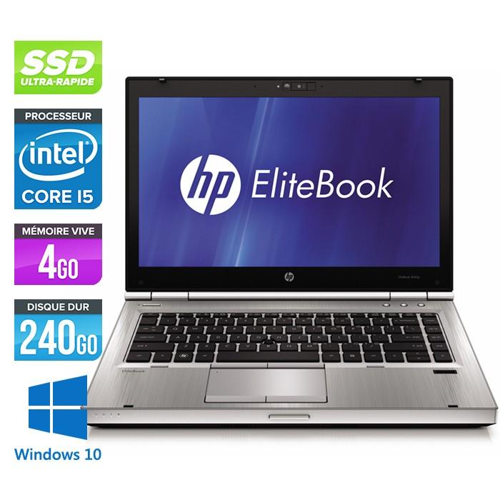 HP EliteBook 8470P - Core i5 - 4Go - 240Go SSD - Windows 10