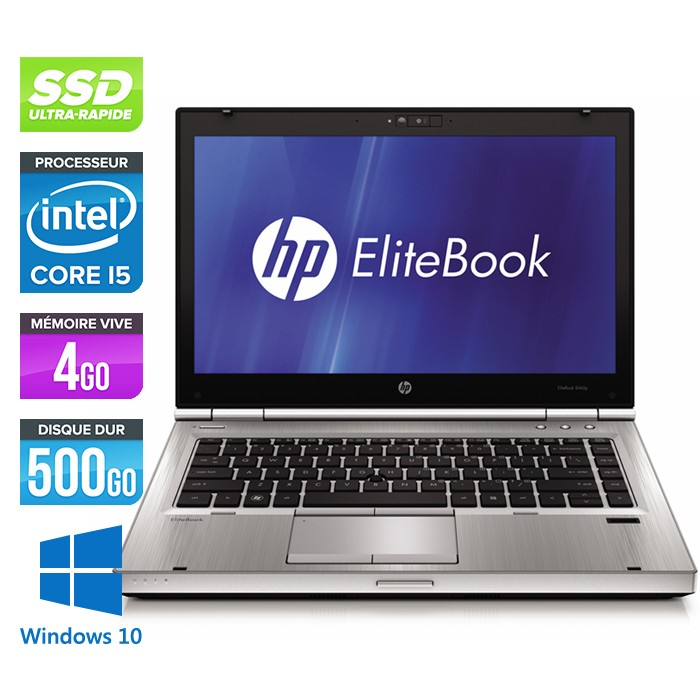 HP EliteBook 8470P - Core i5 - 4Go - 500Go SSD - Windows 10