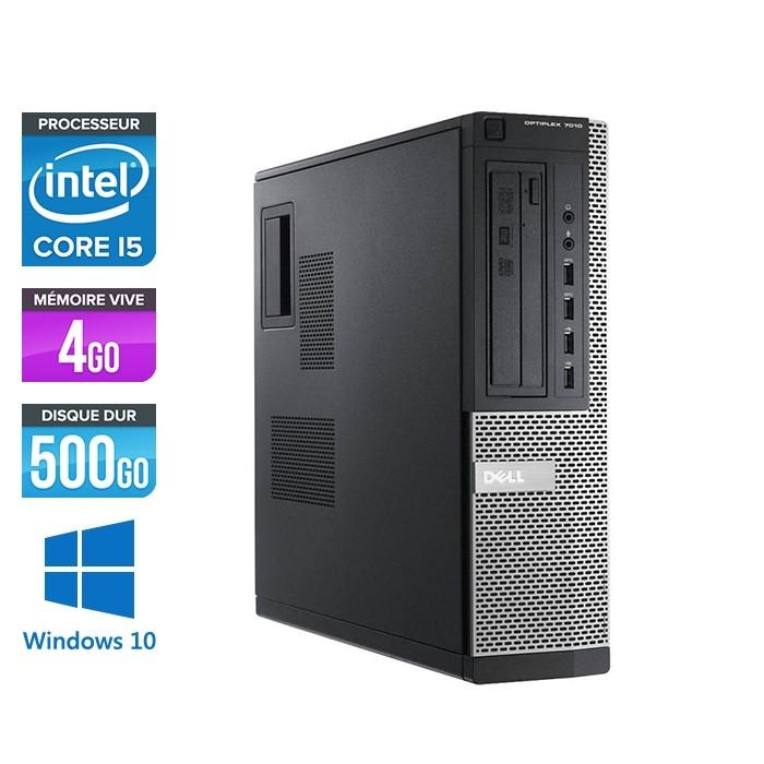 Pc bureau reconditionné - Dell Optiplex 7010 DT - Core i5 - 4Go - 500Go HDD - Windows 10