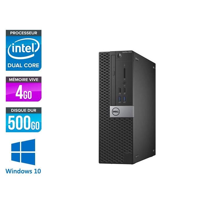 Dell Optiplex 3040 SFF - G4400 - 4Go - HDD 500Go - W10