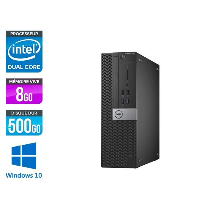 Dell Optiplex 3040 SFF - G4400 - 8Go - HDD 500Go - W10