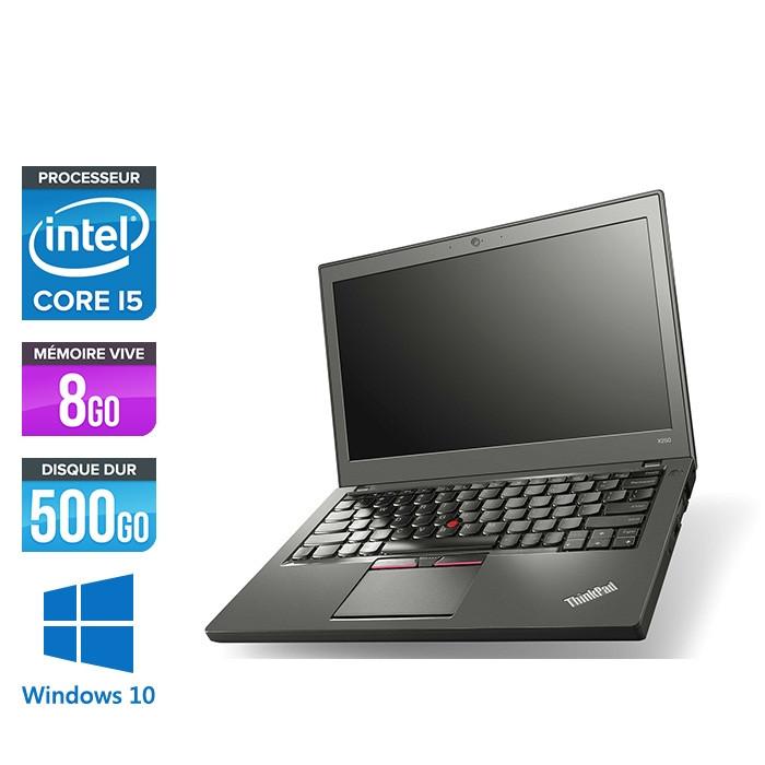 Lenovo ThinkPad X250 - i5 5300U - 8 Go - 500 Go HDD - Windows 10