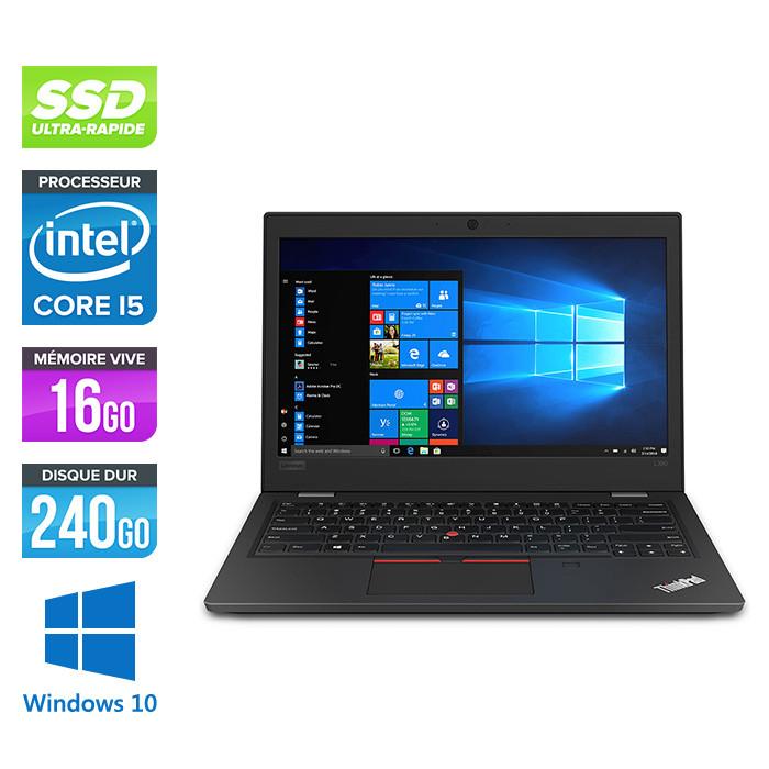 Pc portable reconditionné - Lenovo ThinkPad L390 - Intel Core i5-8265U - 8Go de RAM - 240 Go SSD - W10