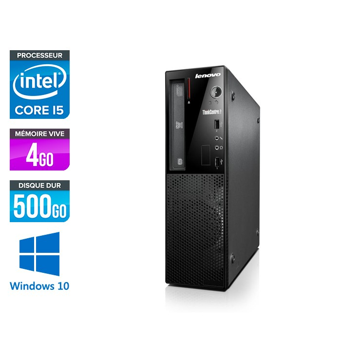 Lenovo ThinkCentre Edge 72 SFF - Core i5 - 4Go - 500Go - Windows 10
