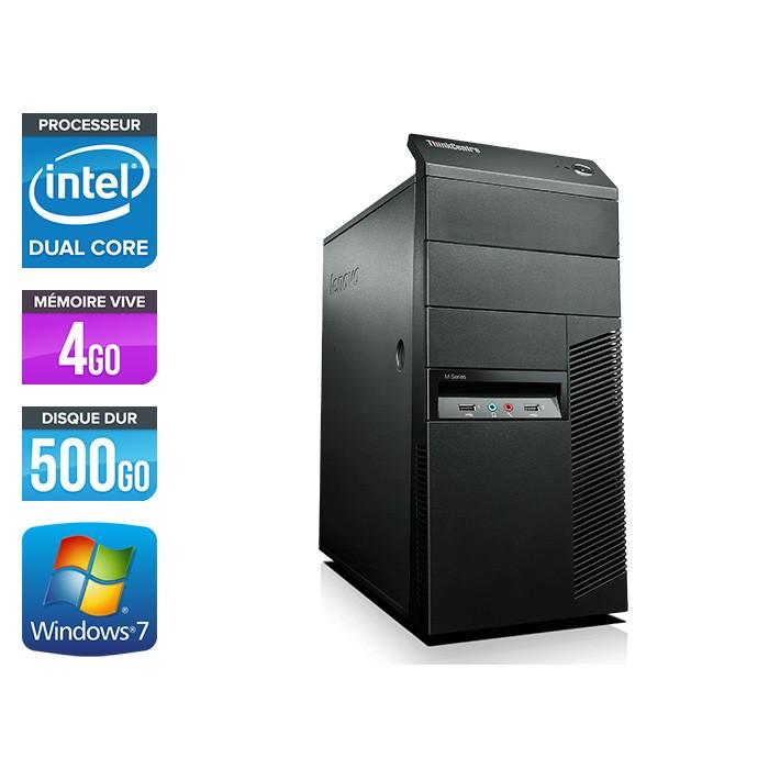 Lenovo ThinkCentre M82 Tour - Intel G1610 - 4Go - 500Go - W7