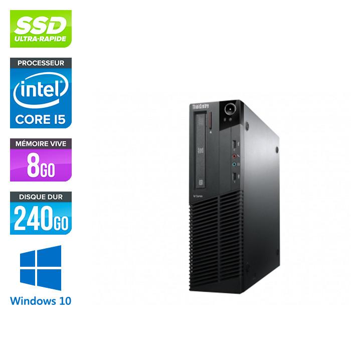 Lenovo M83 SFF - i5 - 8 Go - 240Go SSD - Windows 10