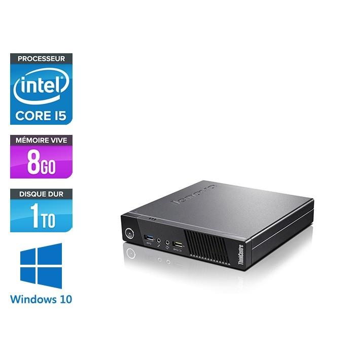 Lenovo M83 USFF - i5 - 8 Go - 1To HDD - Windows 10