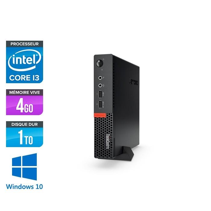 Lenovo M910Q USFF - i3 - 4 Go - 1To HDD - Windows 10