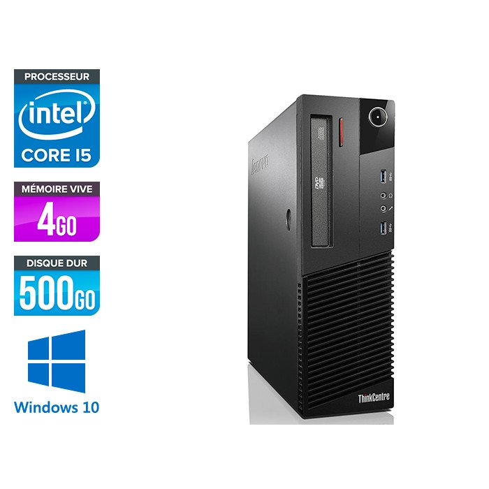 Lenovo M93P SFF - i5 - 4Go - 500 Go HDD - Windows 10