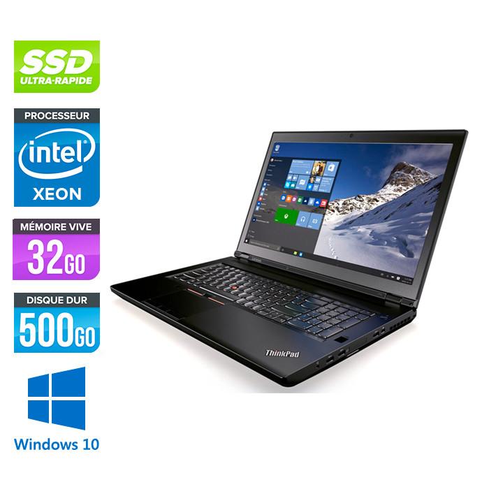 Lenovo ThinkPad P70 -  Xeon - 32Go - 500Go SSD - Nvidia M4000M - Windows 10