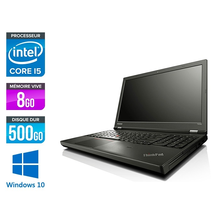 Lenovo ThinkPad T540P - i5 - 8Go - 500Go - Windows 10