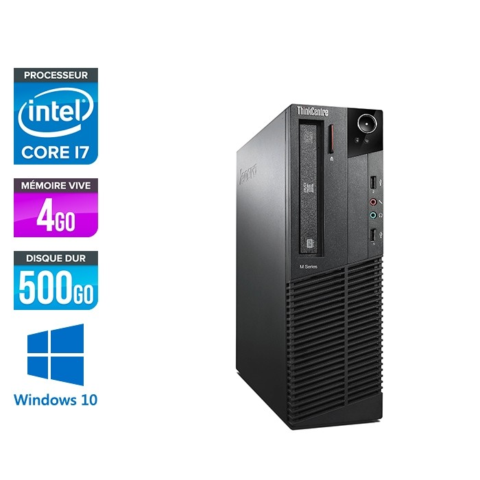 Lenovo ThinkCentre M92P SFF - i7 3770 - 4 Go - HDD 500 Go - Windows 10