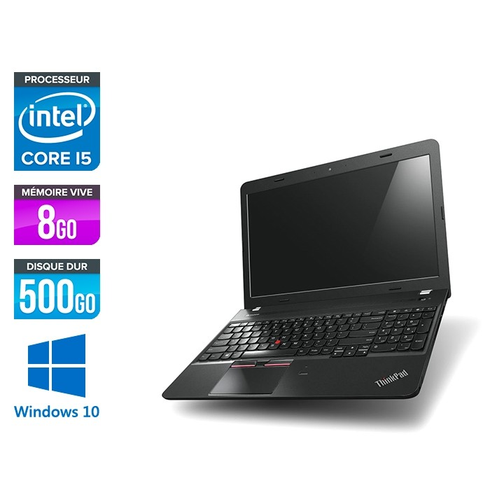 Lenovo ThinkPad E550 - i5 - 8Go - 500Go HDD - Full-hd - Windows 10