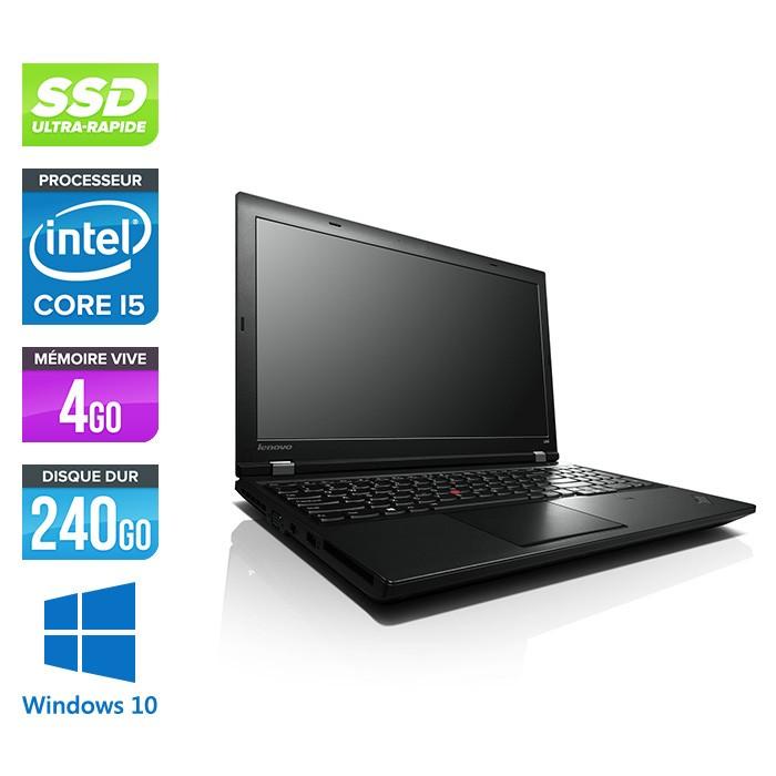 Lenovo ThinkPad L540 - i5 - 4Go - 240Go SSD - sans webcam - Windows 10