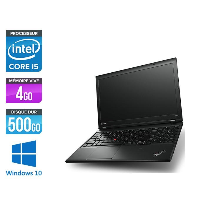 Lenovo ThinkPad L540 - i5 - 4Go - 500Go HDD - sans webcam - Windows 10
