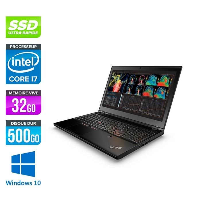 Lenovo ThinkPad P50 -  i7 - 32Go - 500Go SSD - Nvidia M1000M - Windows 10 Professionnel