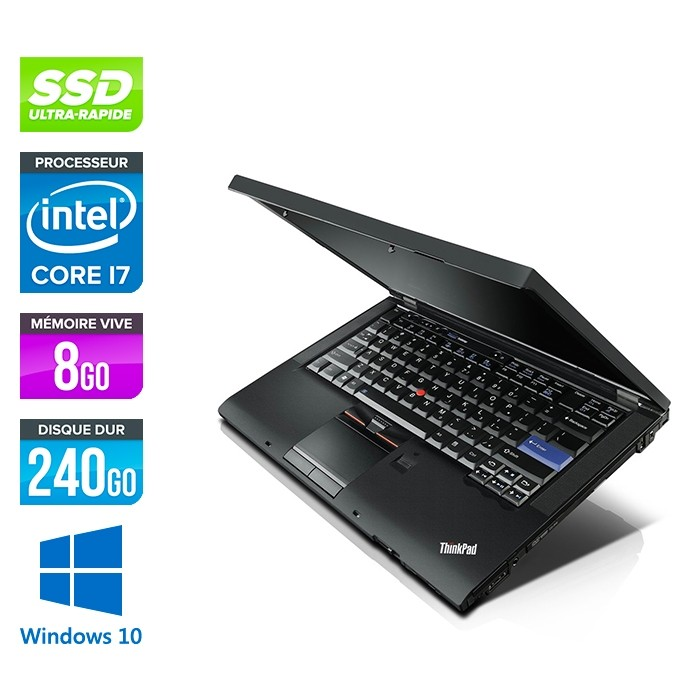 Lenovo ThinkPad T410 - i7 - 8Go - 240Go SSD - Windows 10