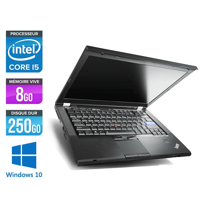 Lenovo ThinkPad T420 - i5 - 8Go - 250Go HDD - Windows 10 Professionnel