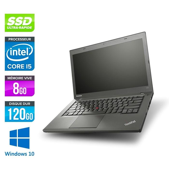 Lenovo ThinkPad T440 - i5 - 8Go - 120Go SSD - Windows 10 Home