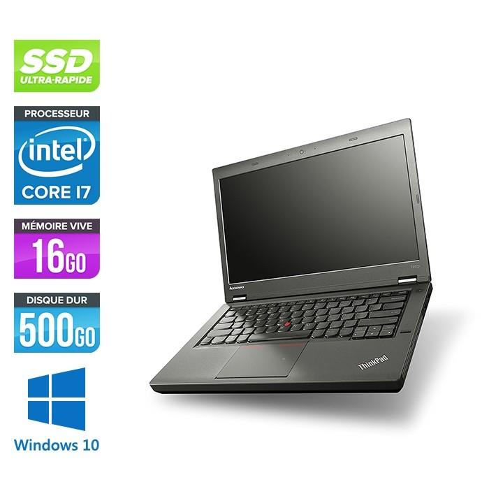 Lenovo ThinkPad T440P - Pc portable reconditionné - i7 - 16Go - 500Go SSD - Windows 10