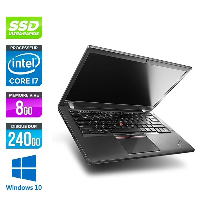 Lenovo ThinkPad T450s - i7 5600U - 8Go - SSD 240Go - Windows 10 professionnel