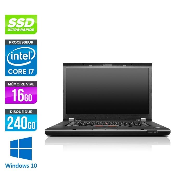Lenovo ThinkPad W530 - i7 - 16Go - 240 Go SSD - Nvidia K2000M - Windows 10