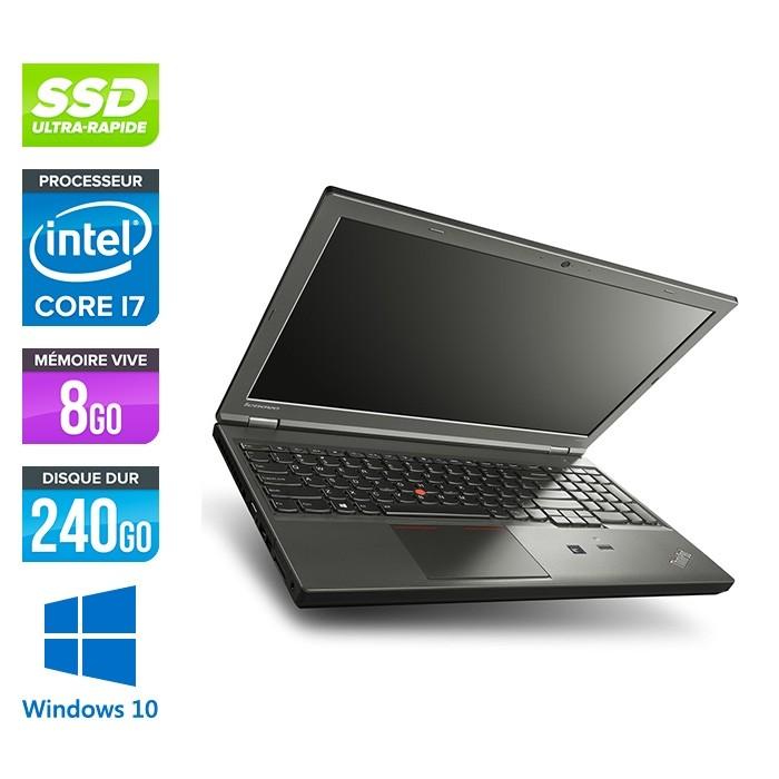 Lenovo ThinkPad W540 -  i7 - 8Go - 240Go SSD - Nvidia K2100M - Windows 10