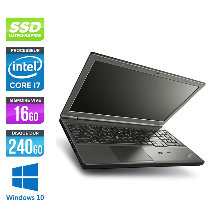 Lenovo ThinkPad W540 -  i7 - 16Go - 240Go SSD - Nvidia K2100M - Windows 10