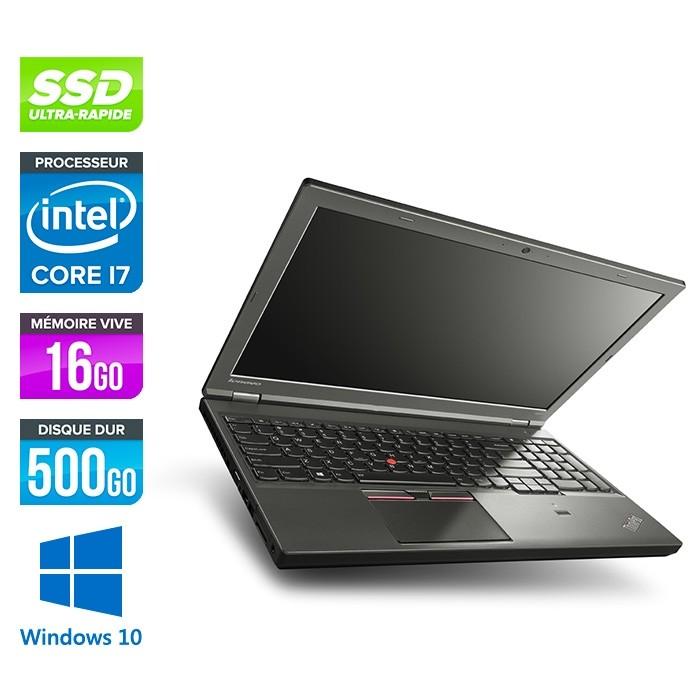 Station de travail reconditionné - Lenovo ThinkPad W541 - i7 - 16Go - 500Go SSD - Nvidia K2100M - Windows 10