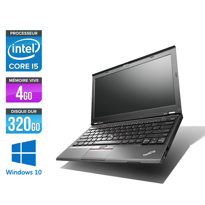 Lenovo ThinkPad X230 - Core i5-3320M - 4Go - 320 Go HDD - Windows 10 Famille