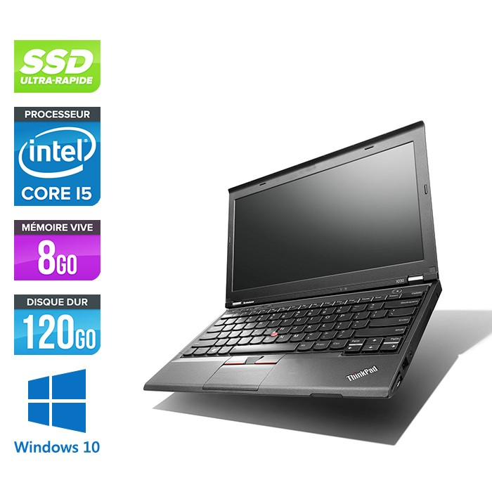 Lenovo ThinkPad X230 - Core i5-3320M - 8 Go - 120 Go SSD - Windows 10