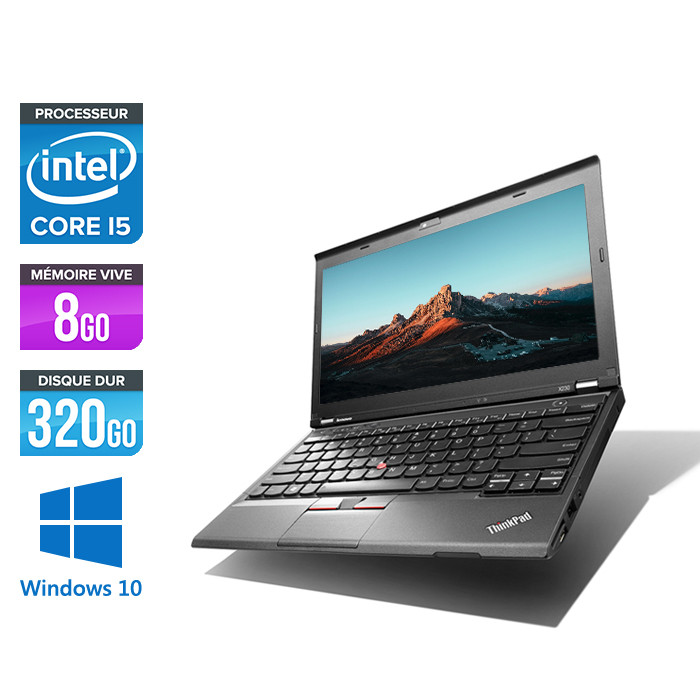 Pc portable - Lenovo ThinkPad X230 - Core i5-3320M - 8 Go - 320 Go HDD - Windows 10