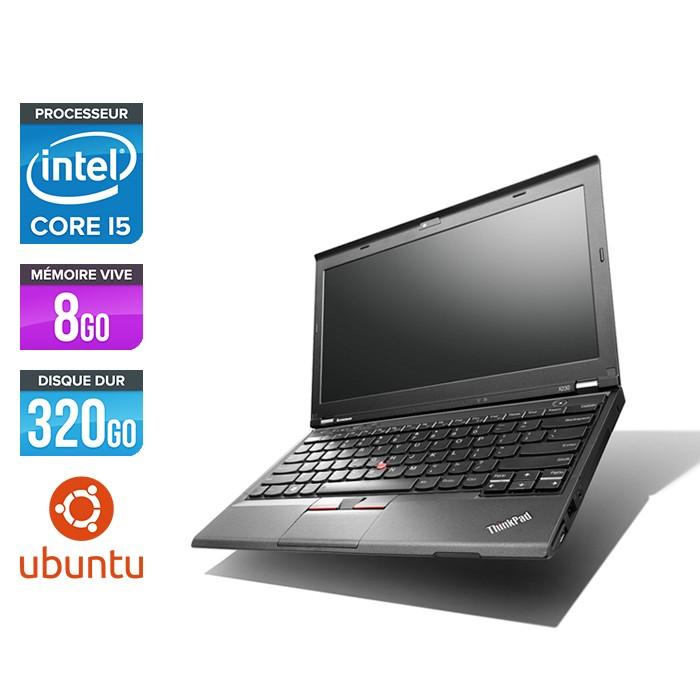 Lenovo ThinkPad X230 - Core i5-3320M - 8 Go - 320 Go HDD - Ubuntu - linux