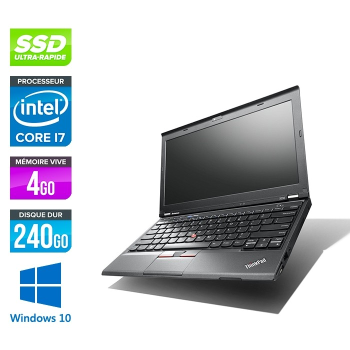 Lenovo ThinkPad X230 - i7 - 4 Go - 240 Go SSD - Windows 10