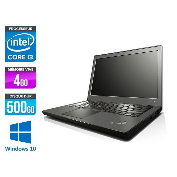 Lenovo ThinkPad X240 - i5 4300U - 4 Go - 500Go HDD - Windows 10 - 2