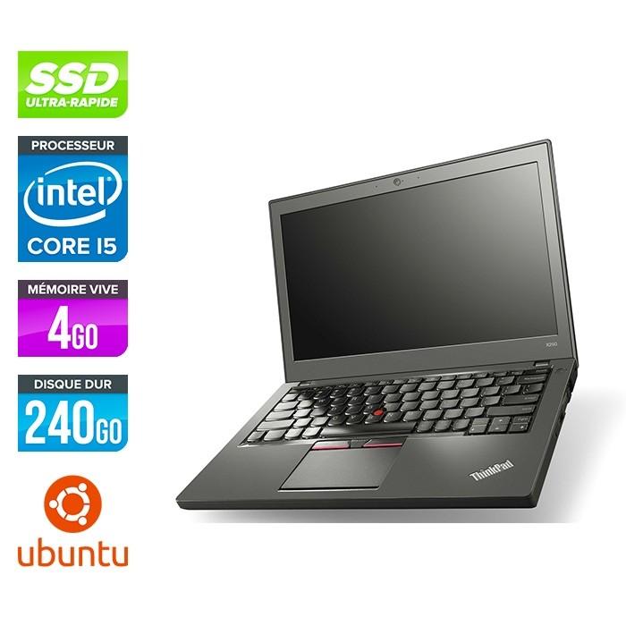 Lenovo ThinkPad X250 - i5 5300U - 4Go - 240 Go SSD - Linux
