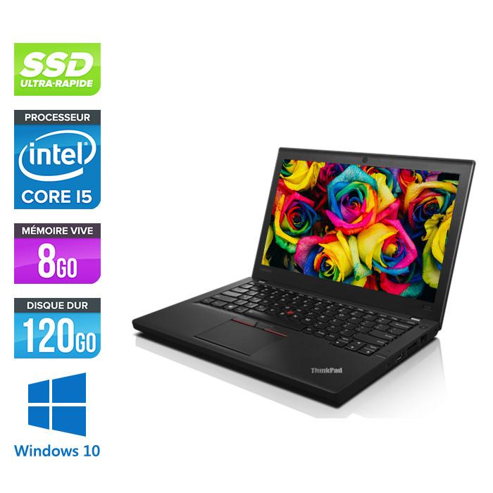 Lenovo ThinkPad X250 - i5 5200U - 8Go - 120 Go SSD - Windows 10