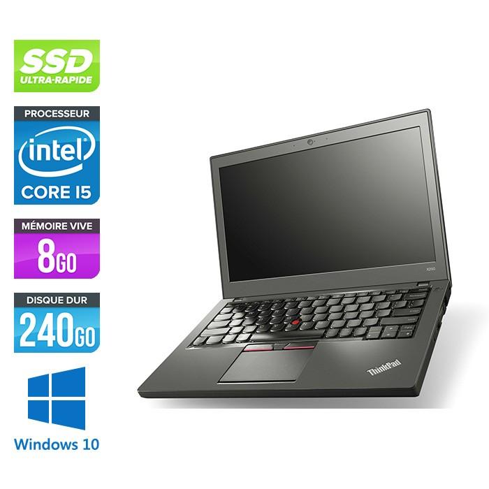 Lenovo ThinkPad X250 - i5 5300U - 8 Go - 240 Go SSD - Windows 10