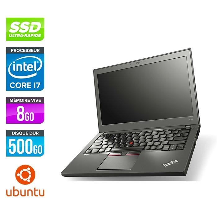 Lenovo ThinkPad X250 - i7 5600U - 8 Go - 500 Go SSD - Linux