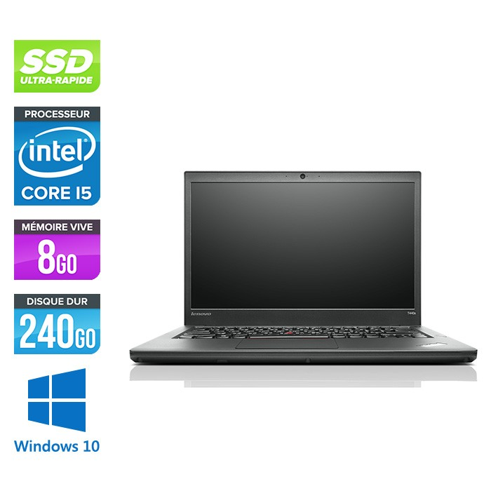 Lenovo ThinkPad T440s - i5 4300U - 8Go - SSD 240Go - Windows 10 Home