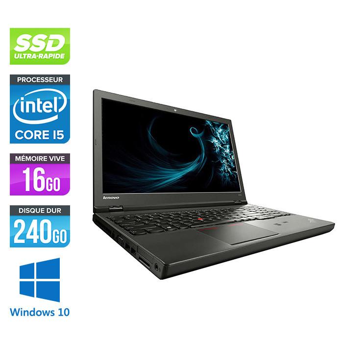 Lenovo ThinkPad W541 -  i5 - 16Go - 240Go SSD - Nvidia K1100M - Windows 10