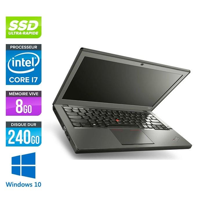 Lenovo ThinkPad X240 - i7 4600U - 8 Go - 240 Go SSD - Windows 10 home