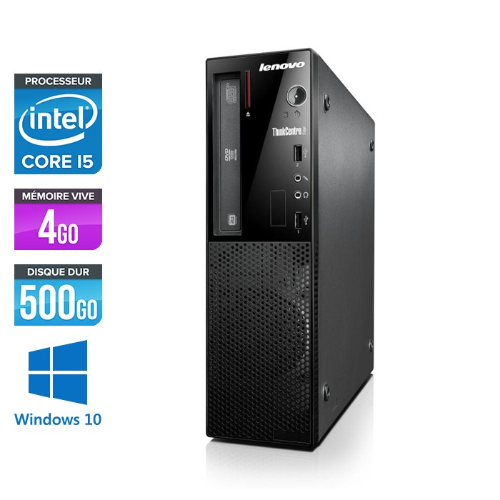 Lenovo ThinkCentre E73 SFF - Core i5 - 4Go - 500Go - Windows 10
